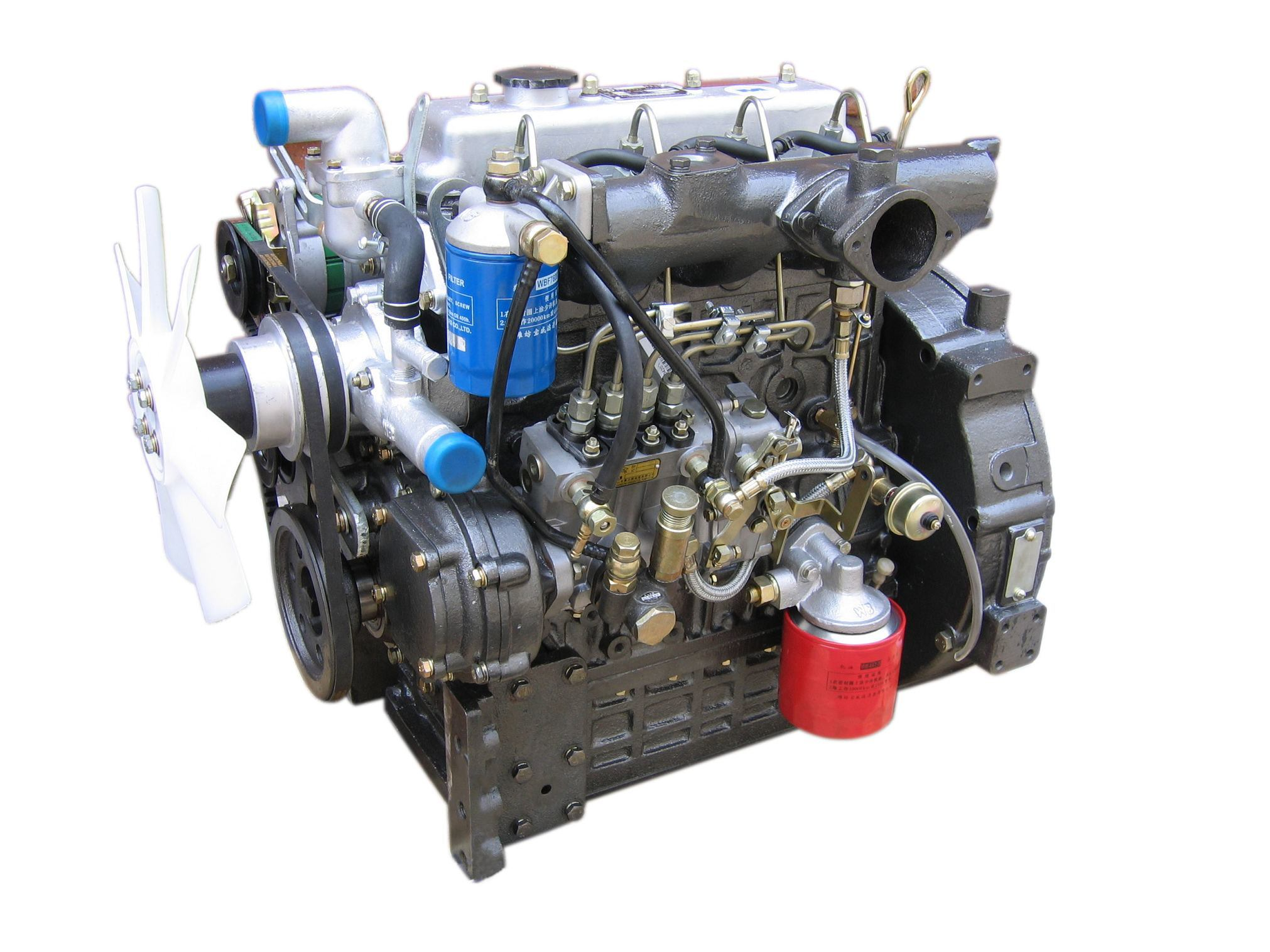 2 Motor Tractor : China laidong multi cylinder diesel engine for tractor