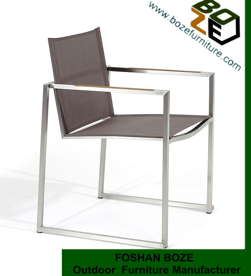 China outdoor garden furniture stainless steel textilene for Y h furniture trading