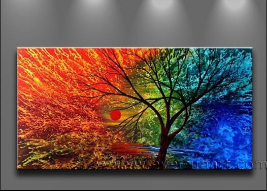 Pintura abstracta del árbol (LA1-027) – Pintura abstracta del ...