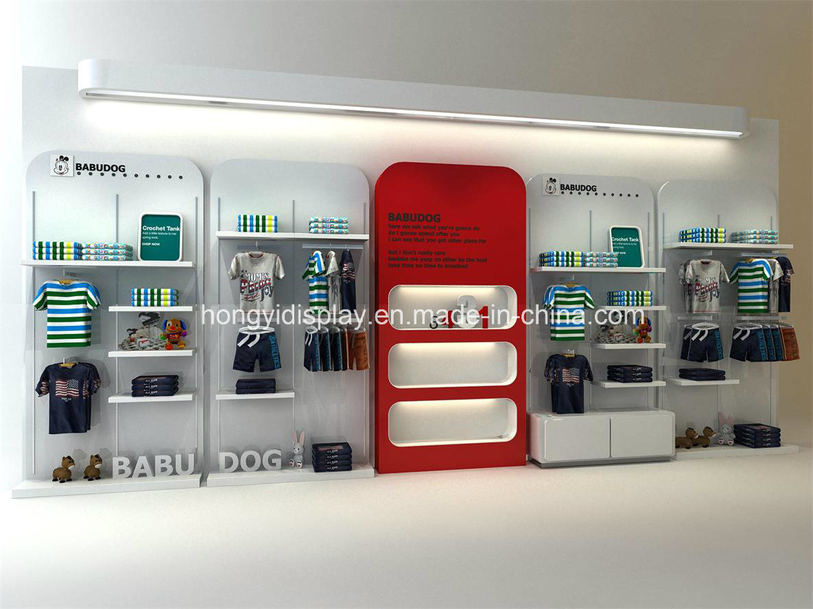 China Retail Store Wall Unit For Display Store Wooden