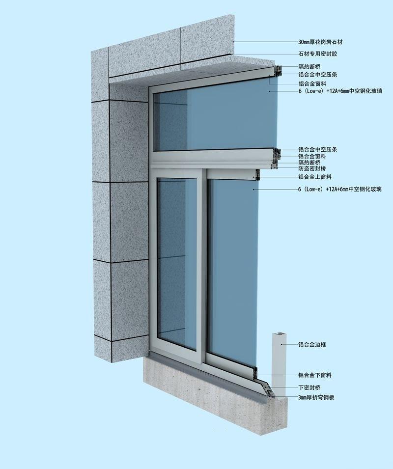 Double Glazing Sliding Window Profiles