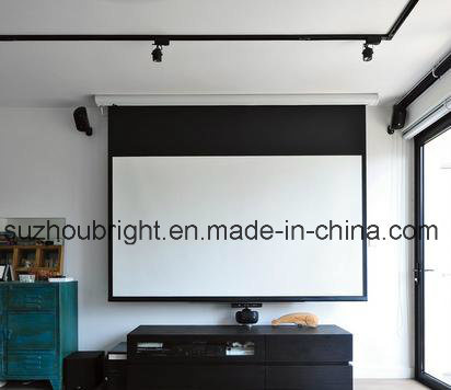 120 Inch Electric Screen Projector Motorized Screen Projector with Remote Control