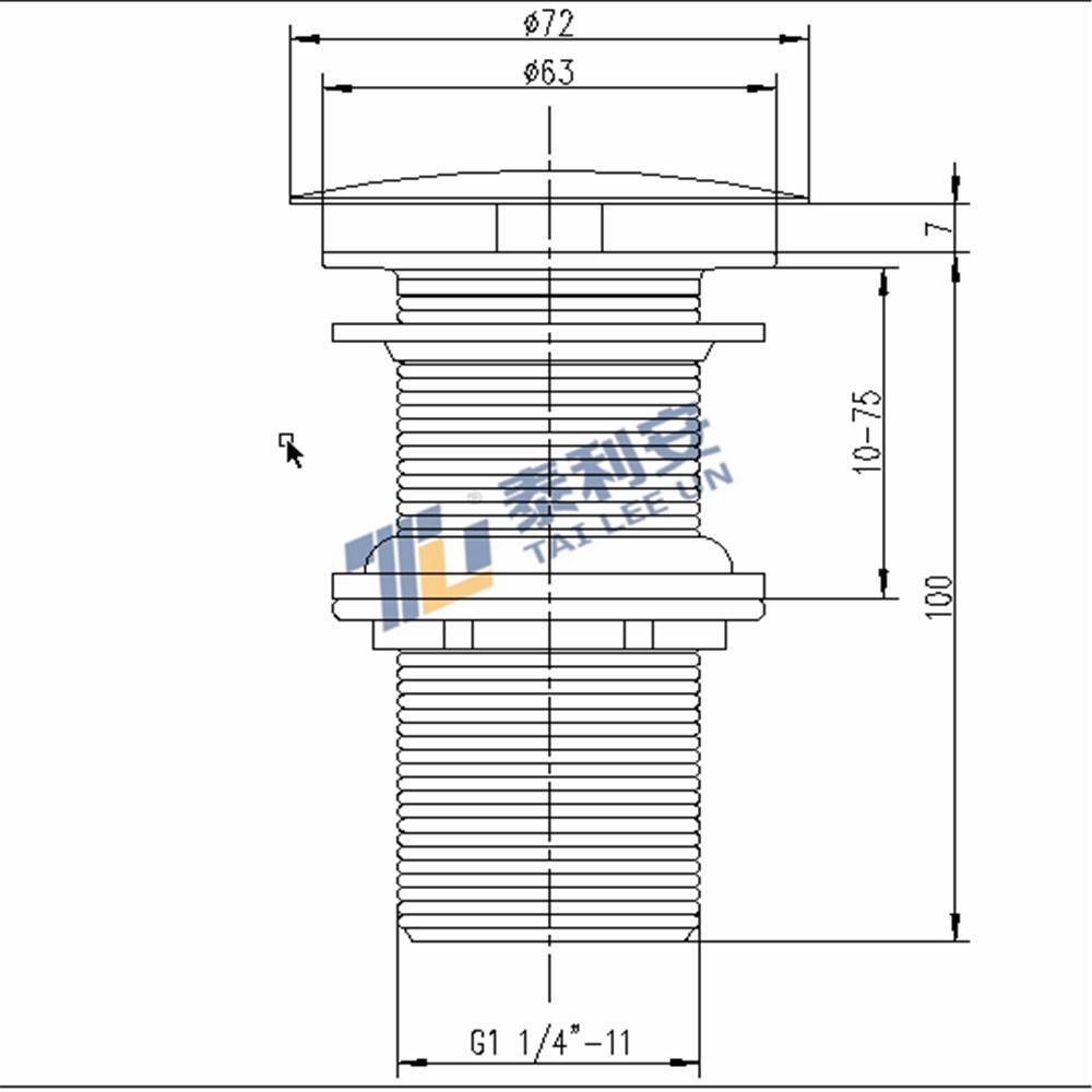 Public Free Flow Wash Basin Waste (T1060)