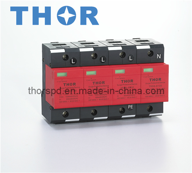 Surge Protector Lightning Arrester for AC Power for CE
