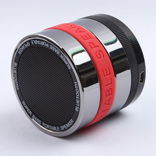 with TF Card Reader&FM Function Camera Lens Wireless Bluetooth Speaker