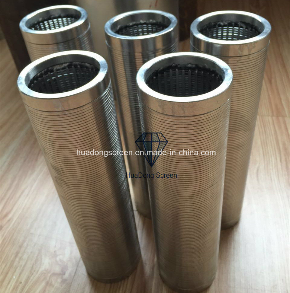 0.5mm Slot Stainless Steel 304/316 Johnson Wire Wrapped Well Screen Pipe with Thread Coupling