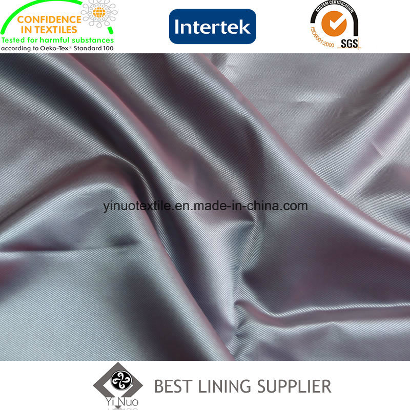 100 Polyster Cationic Two Tone Small Twill Lining Fabric Casual Wear Lining China Manufacturer