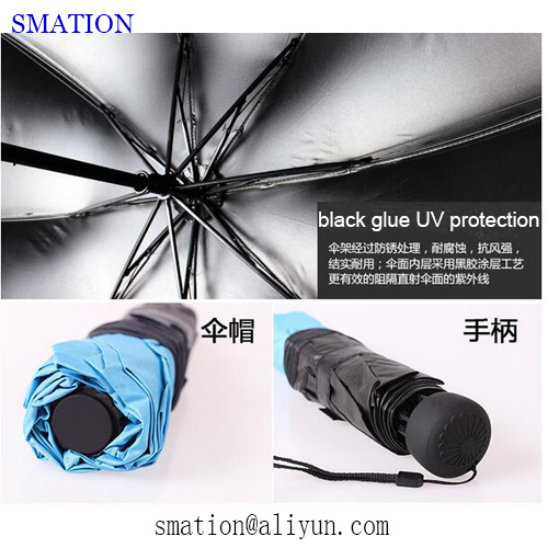 Reverse Folding Fold Fashion Promotion Lady Women Vinyl Sun Umbrella