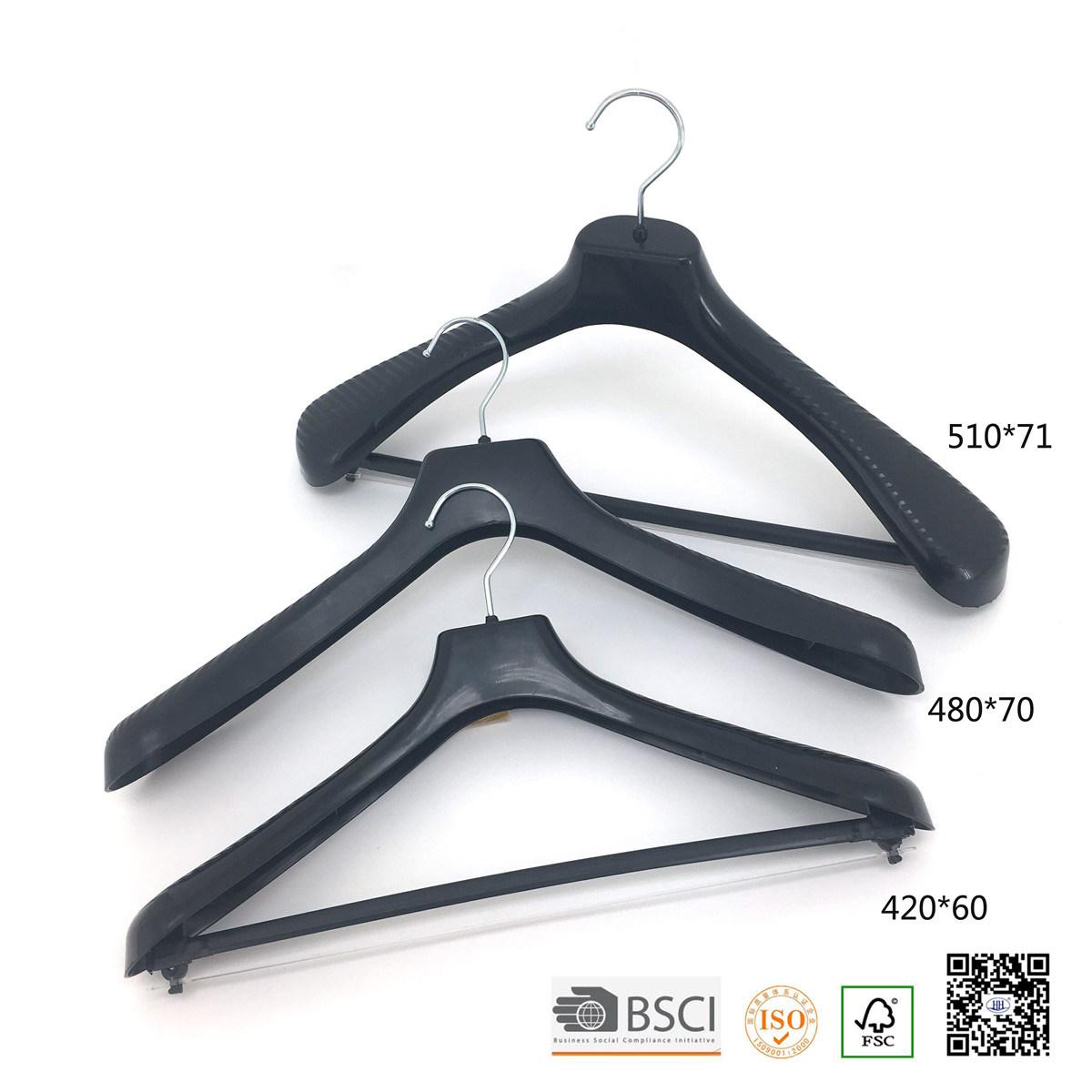 Metal Trouser Clips Transparent Plastic Suit Clothes Hanger