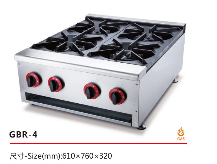 Cooking Stove for Commercial Restaurant Kitchen