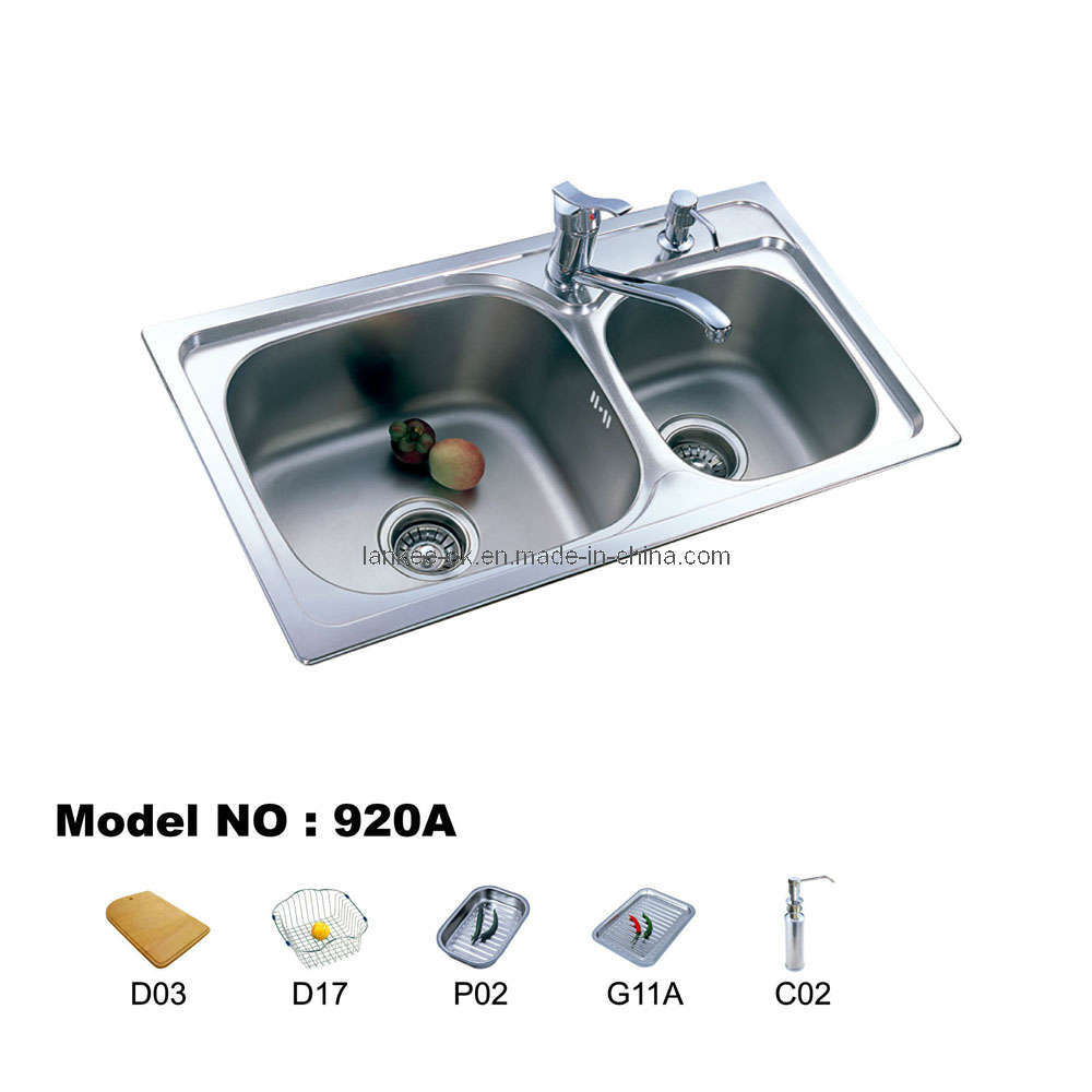 Double Bowl Kitchen Sink : Double Bowl Kitchen Sinks (920) - China Sink, Stainless Steel Sink