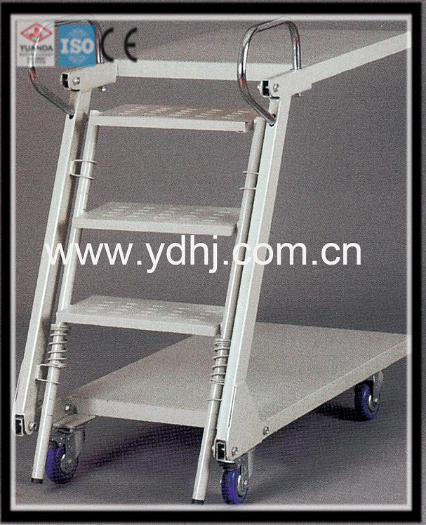 Warehouse Equipment/Warehouse and Supermarket Ladder Trolley/Step Ladder with Tray (YD-FT002)