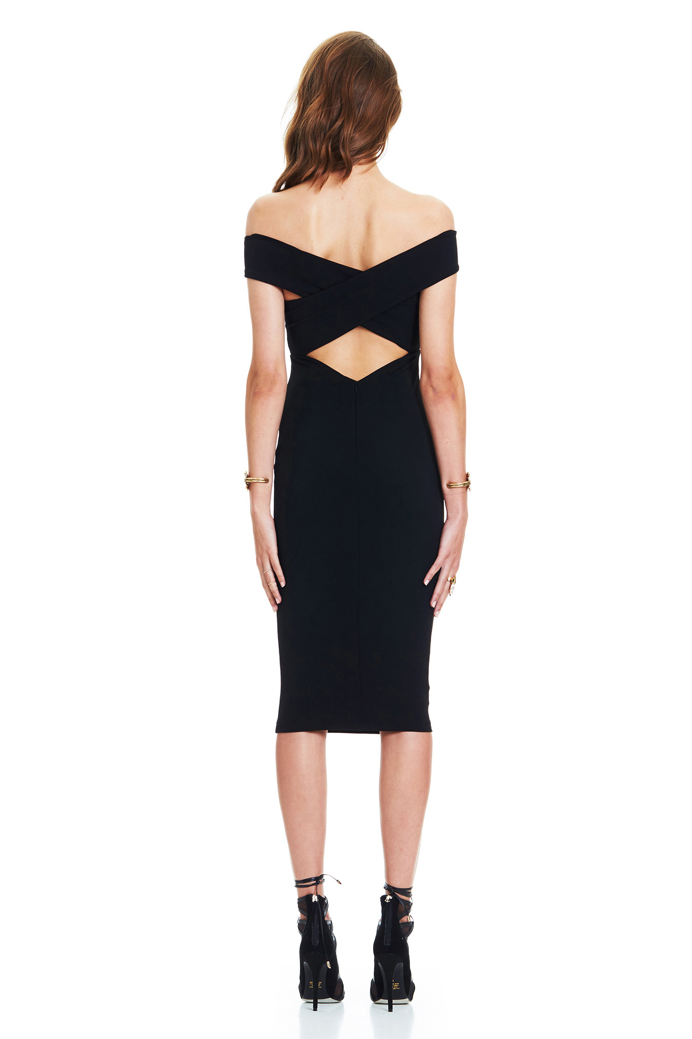Stretch Slim Bodycon Keyhole Revealed Waist Back Dresses