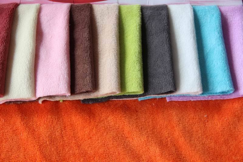 Home Textile Plain Short Velour Fabric (HZS--0033)