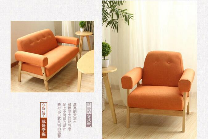 Solid Wooden Fabric Livingroom Sofa (M-X2172)