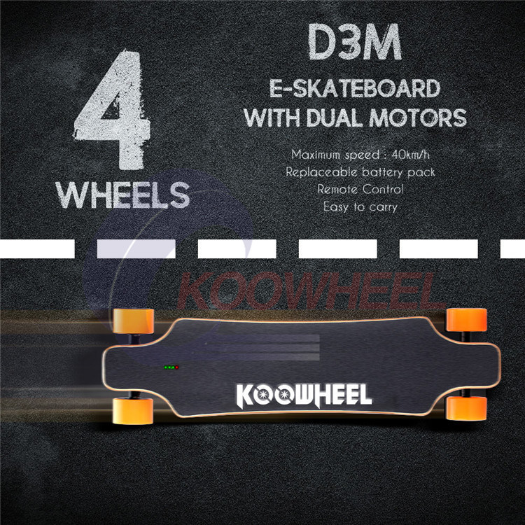 Dual Drive 4 Wheels Electric Skateboard with Remote Control