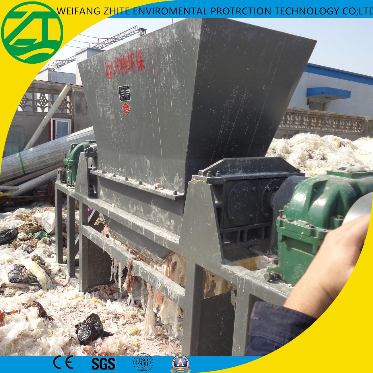 Waste Tire Recycling/Rubber/Municipal Waste/Foam/Waste Fabric/Scrap Metal/Wood/Plastic Shredder