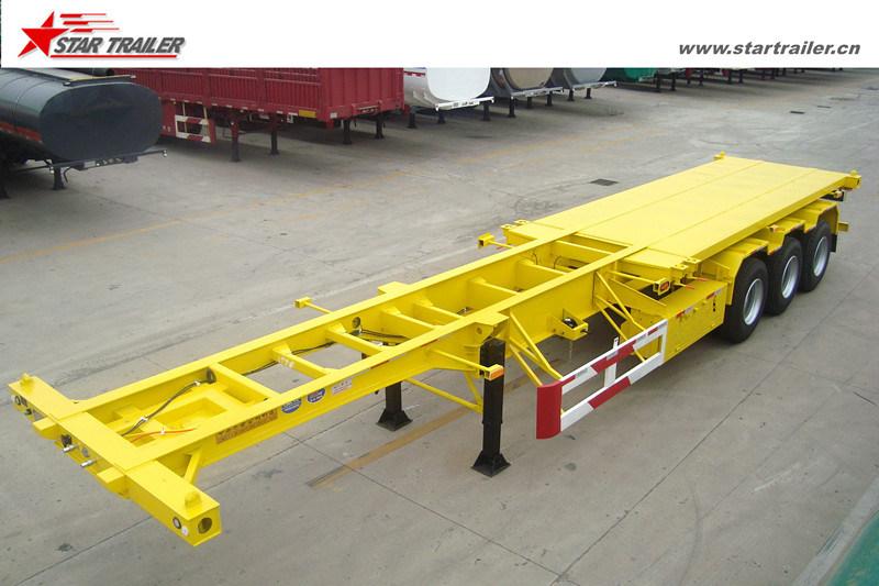 40FT Skeleton Container Transporter Semi Trailer for Sale
