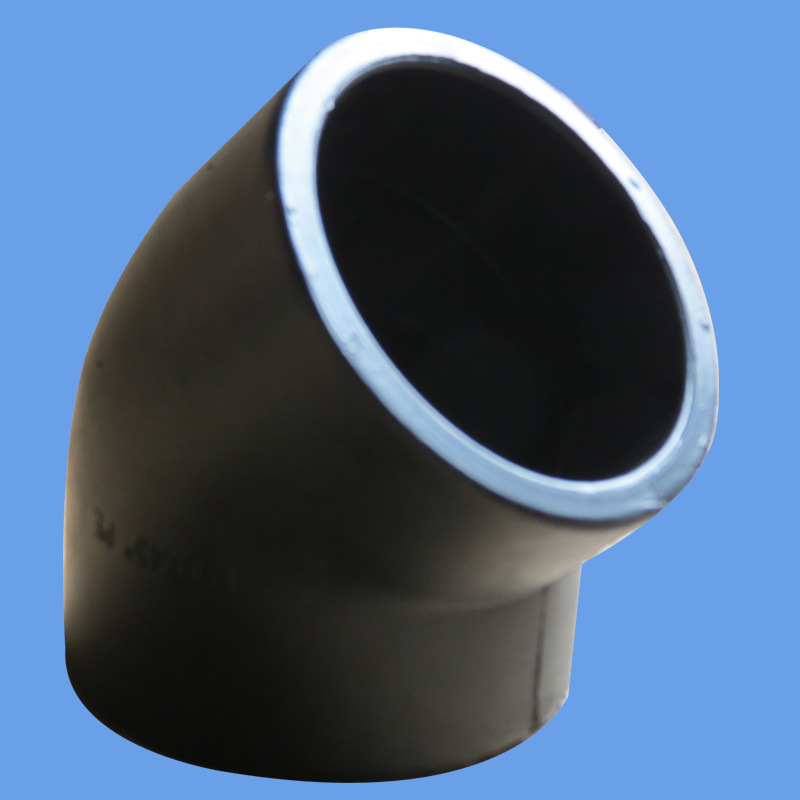 HDPE Butt Fusion 45 Degree Elbow for Water Supply