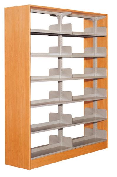Library Steel Bookshelf Wooden Book Rack (ST-23)