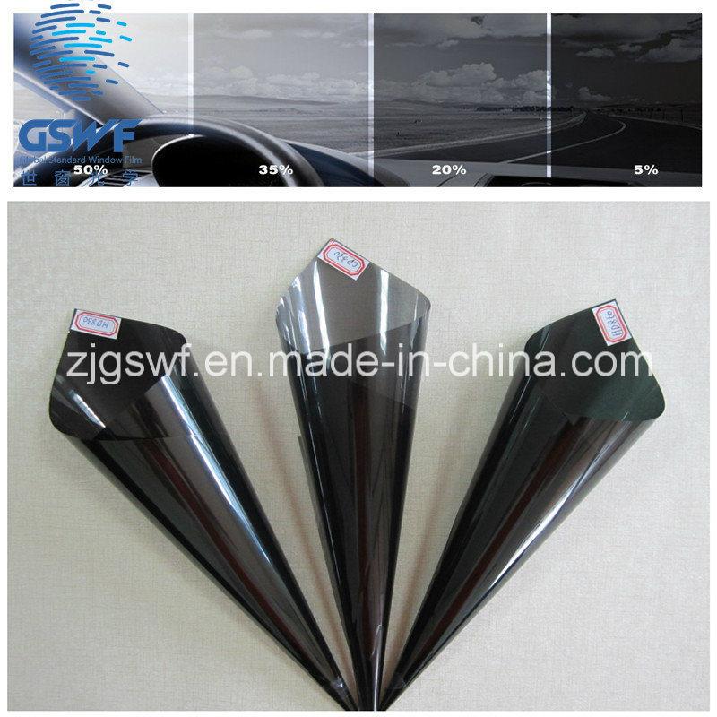 Dark Black Metalized Reflective Glue Tint Car Window Film (CXG542)