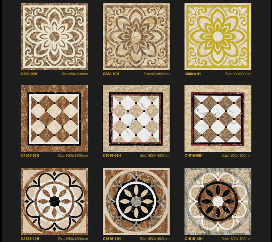 China 100x100 Marble Pattern Floor Design Tiles With