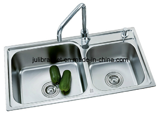 Double Kitchen Sink Stainless Steel : Double Bowl Stainless Steel Kitchen Sink (JL3007) - China Kitchen Sink ...