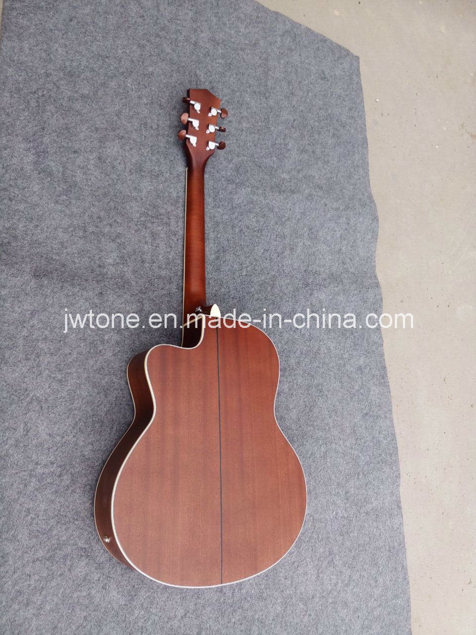 Multi Binding Abalone Inlay Custom Cutaway Quality Acoustic Guitar