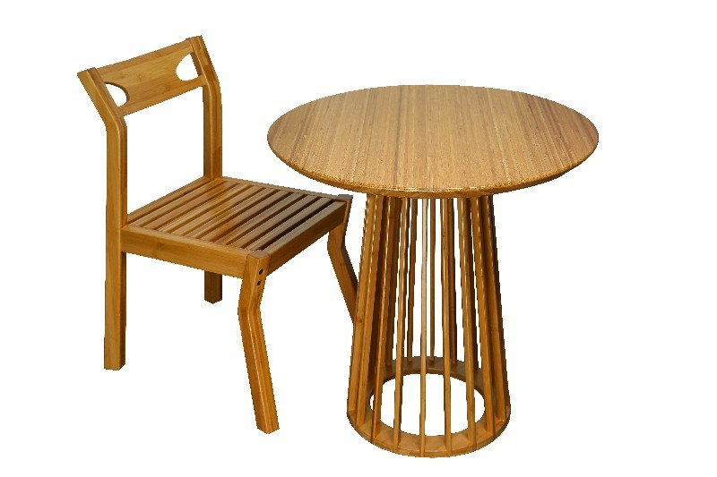 Bamboo End Table Round Table