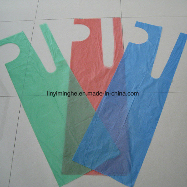 Disposable Plastic HDPE LDPE Folded Single Packed Apron