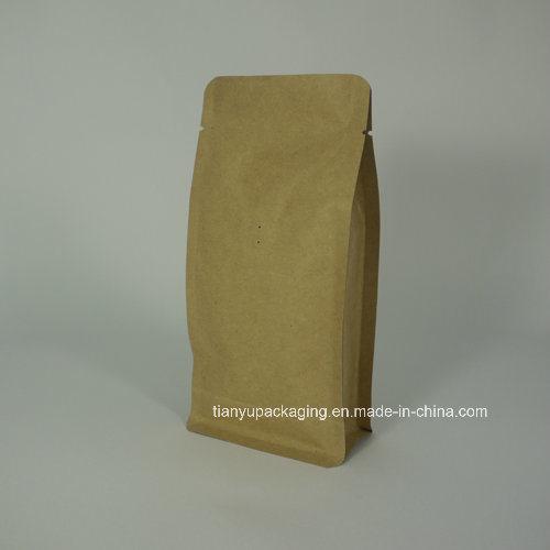 Kraft Paper Flat Block Bottom Box Pouch Coffee Bag
