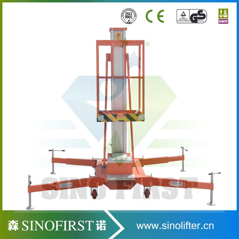 6m to 10m Aerial Aluminum Single Mast Lift Table Platform