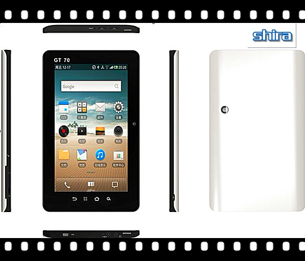 7 Inch Tablet PC With Phone Call Function, Webcam, WiFi, Camera (X