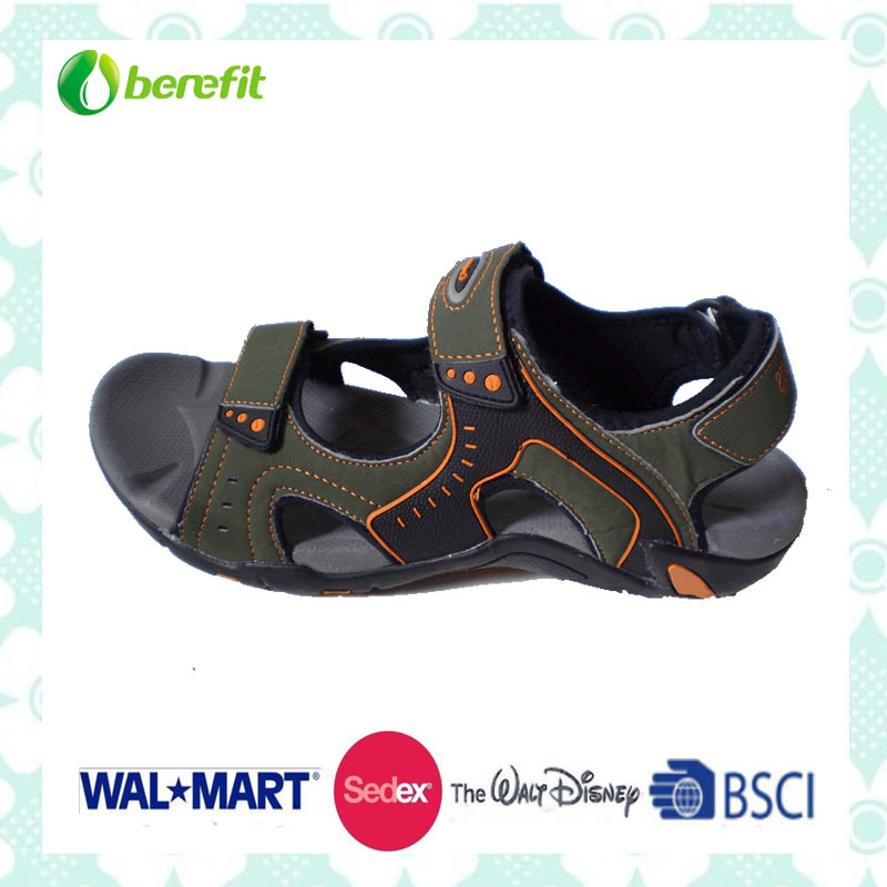 Nubuck and PU Upper, TPR Sole, Men′s Sporty Sandals