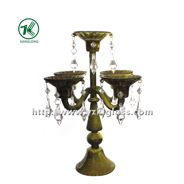 Glass Candle Holder with Five Posts by SGS (9.5*24*31.5)