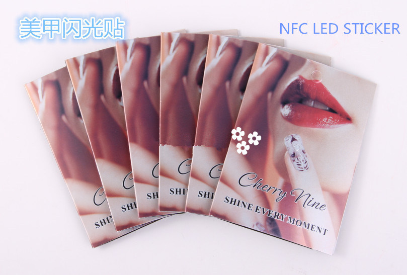 Creative Nfc Chip Nail Art Stickers Tips Lighting Nail Decal Scintillation Decor