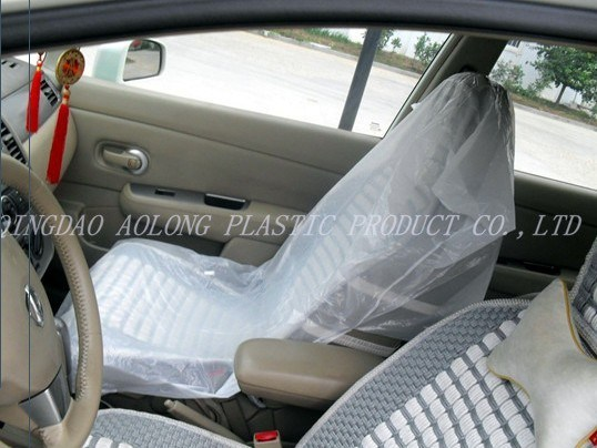China Printed Plastic Car Seat Covers