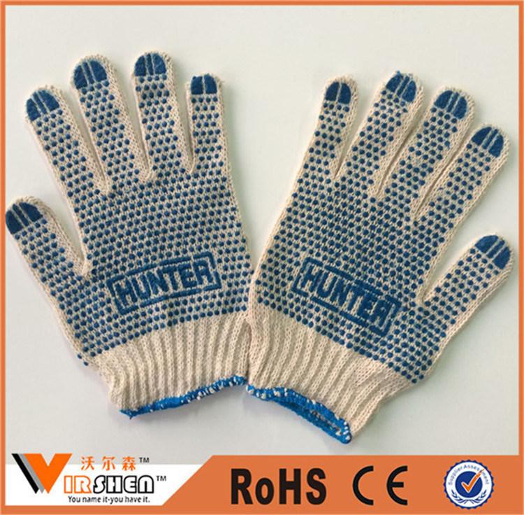 Knitted Wrist Polka DOT Cotton Gloves