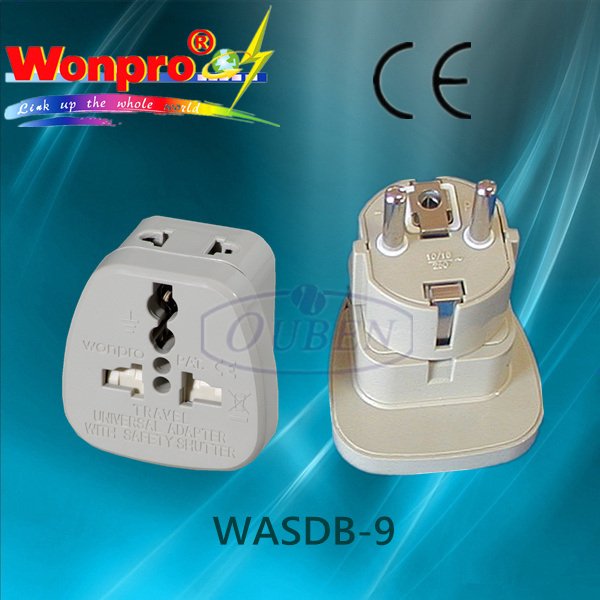 Universal Travel Adaptor WASDB-9 (Socket, Plug)