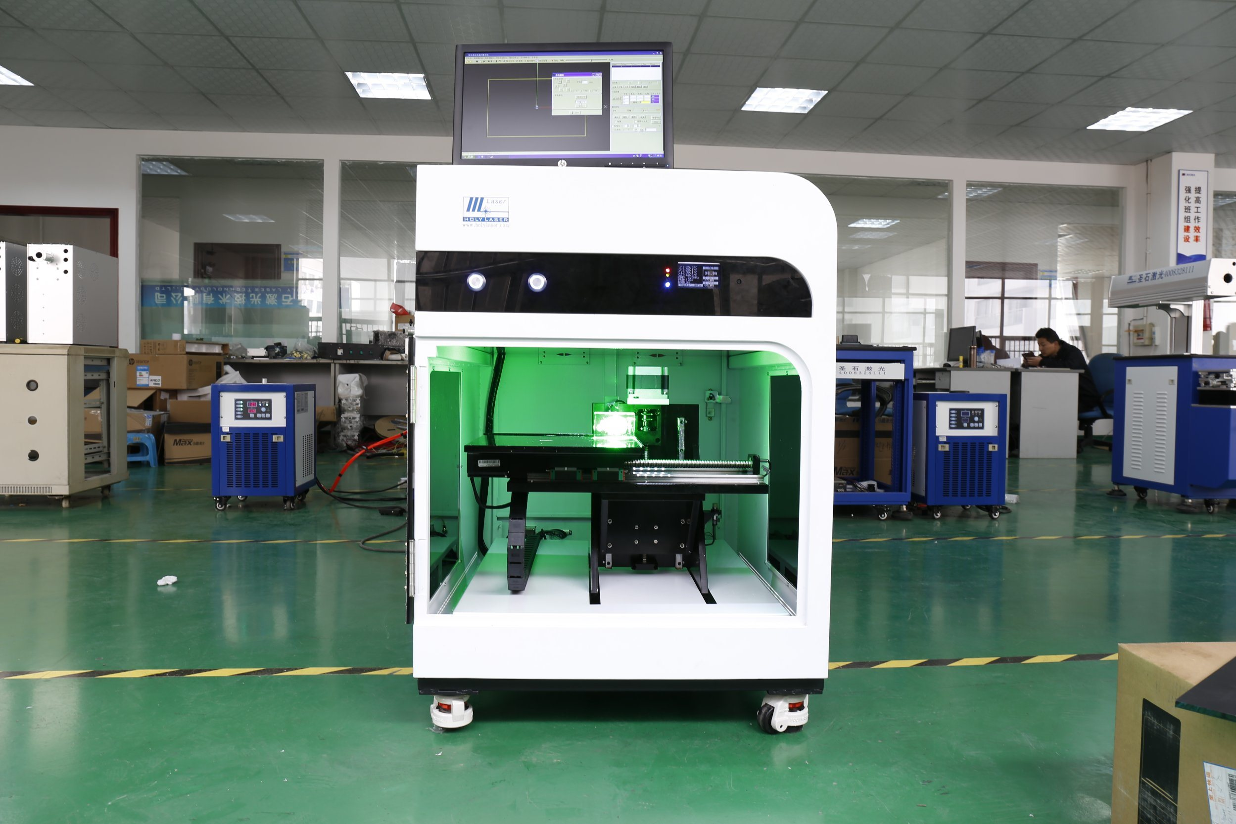 2017 New Model 2D 3D Crystal Photo Glass Laser Inner Inside Sub-Surface Engraving Machine with Camera Price Hsgp-4kb