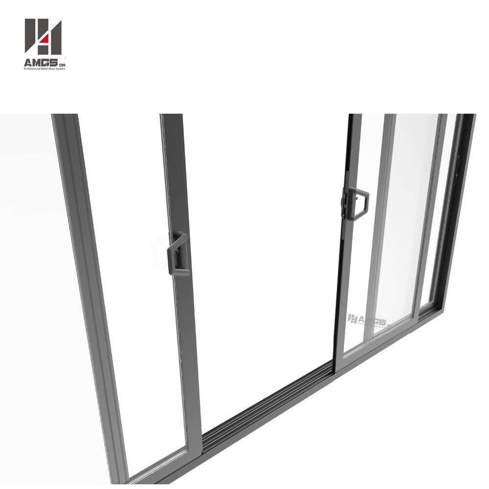 Commercial Double Glass Aluminium Profiles Sliding Door Philippines Price and Design