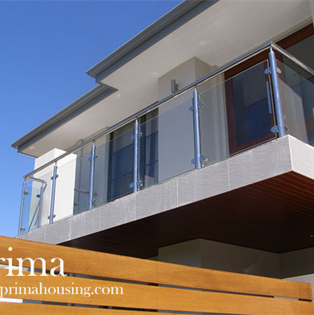 Terrace Railing Design Stainless Steel Glass Balustrade Tempered Glass Railing Handrail Manufacturer