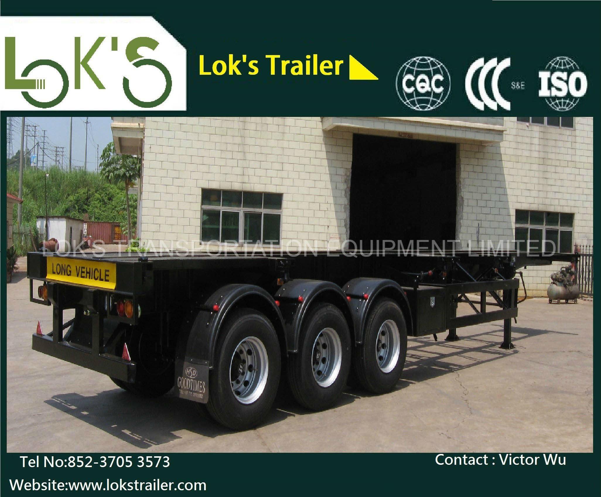 40 Feet 3axles Tanker Chassis Semi Trailer / Air Suspension