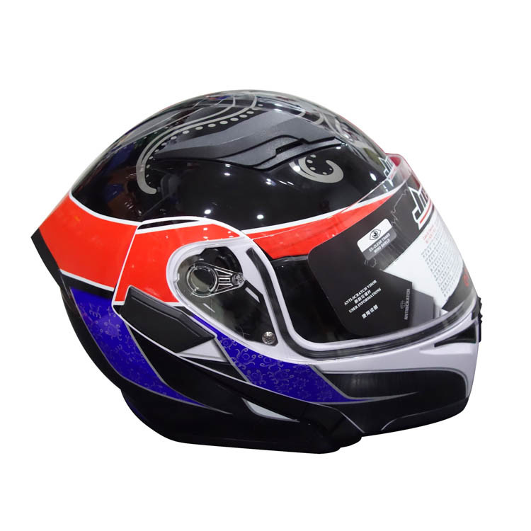 Full Face Motorcycle Helmet with Double Lens Flip up