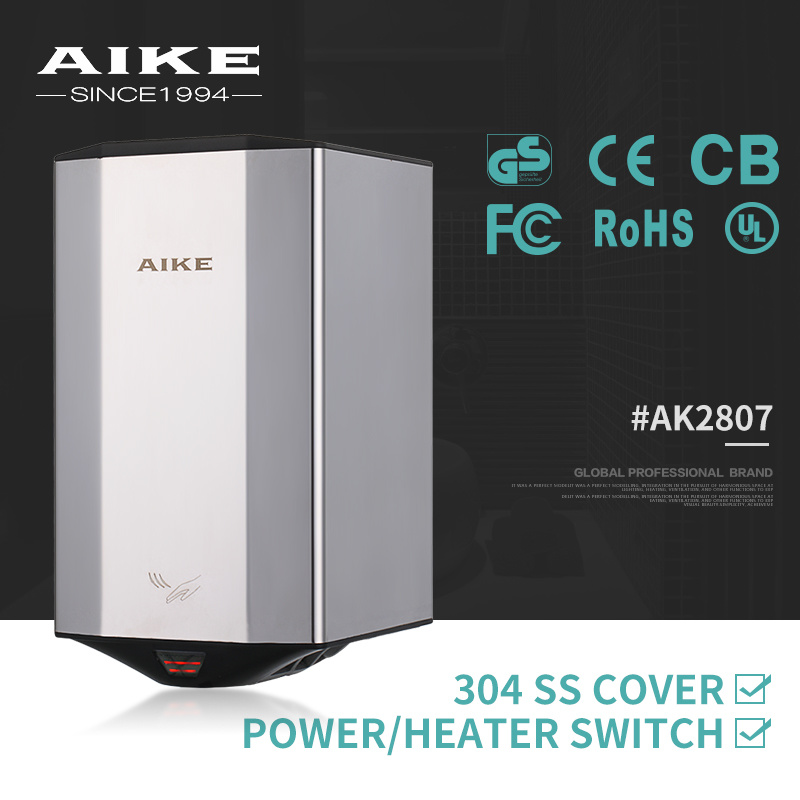 AK2807 Commercial Electric High Speed Air Jet Hand Dryer