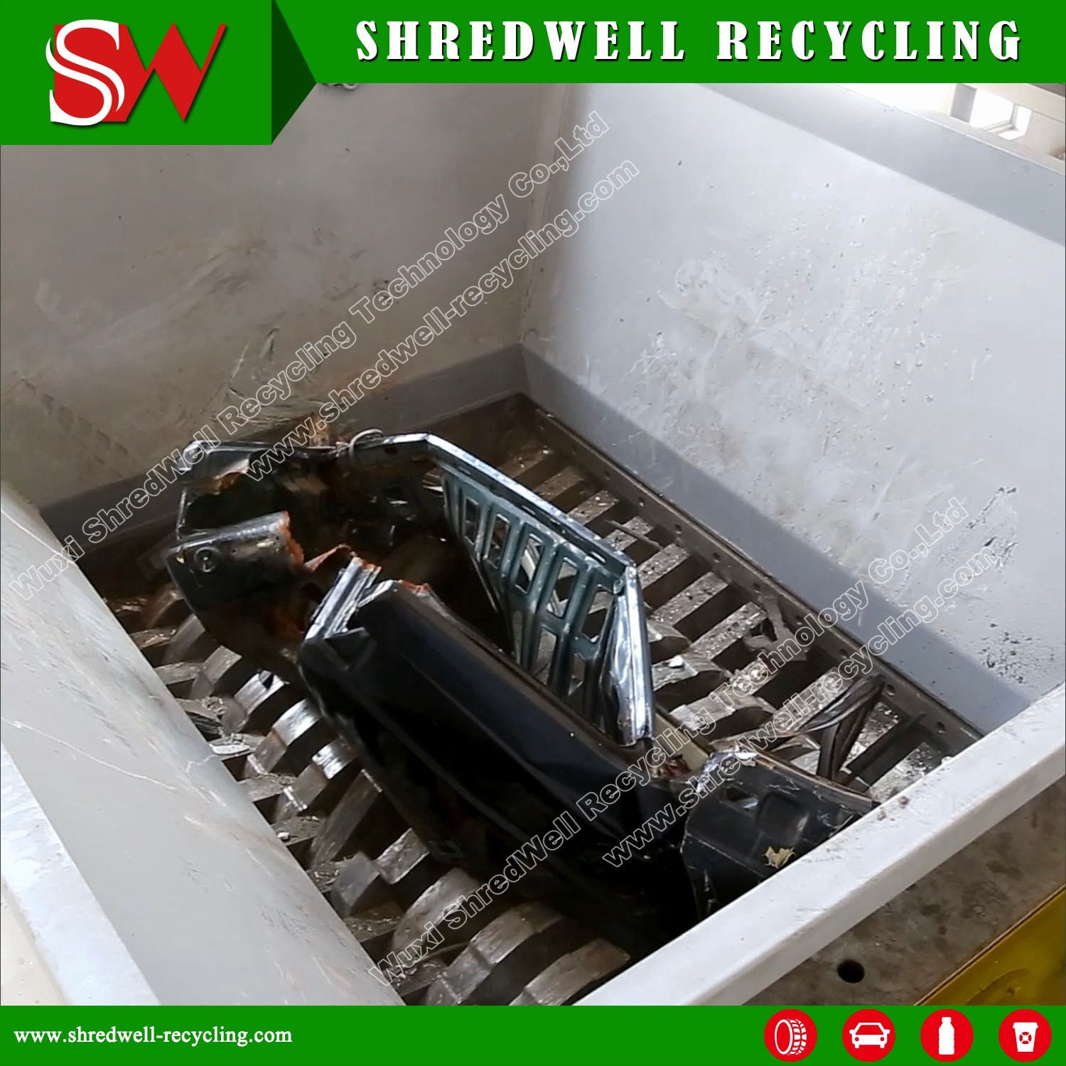 Industrial Double Shaft Scrap Metal Shredder for Recycling Waste Car/Metal Drum