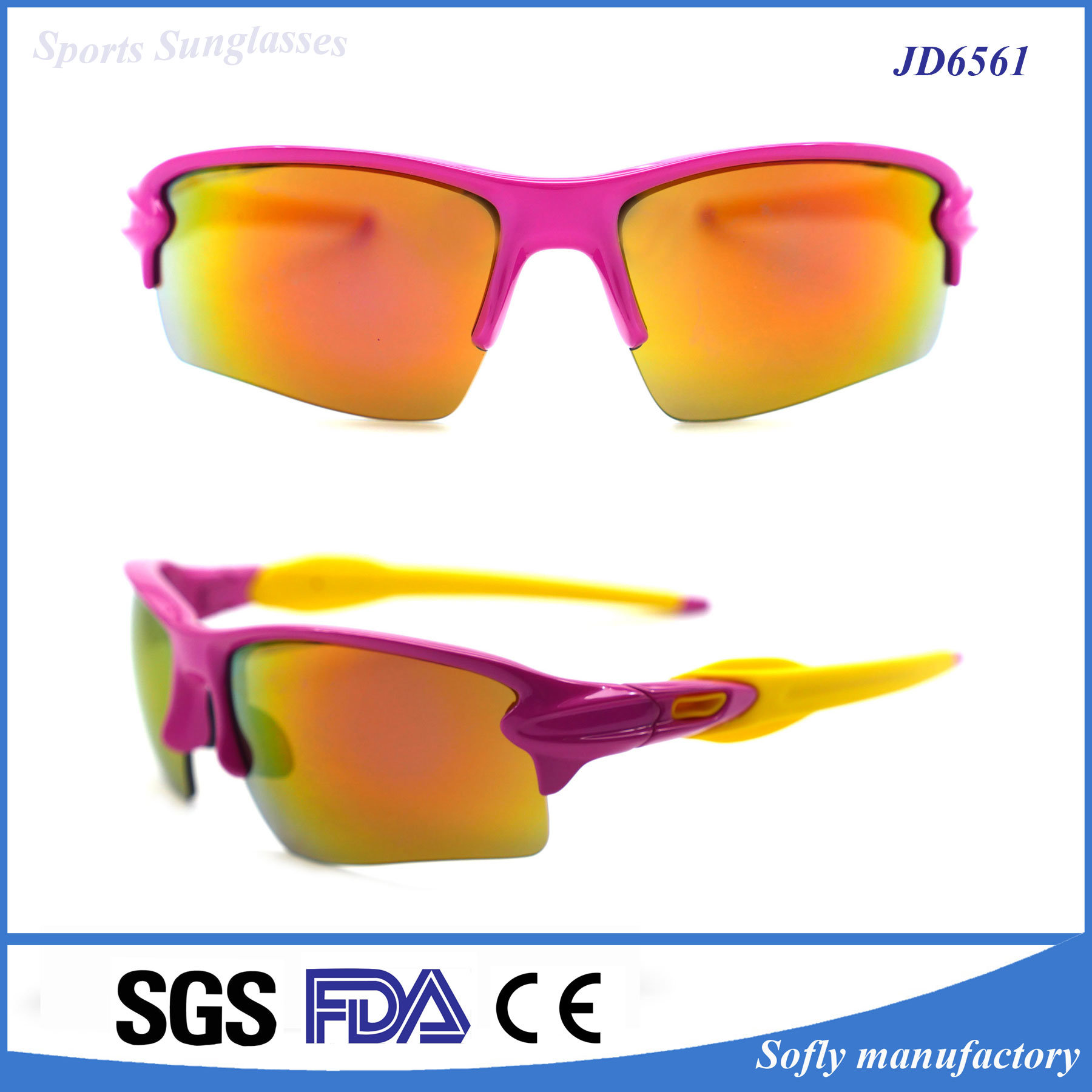 Designer Promotional Custom Logo Wholesale Sport Sunglasses