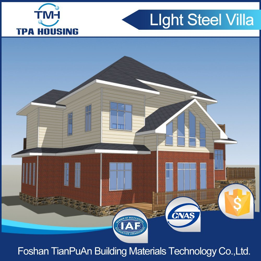 4 Bedroom Steel Structure Frame Building Prefab House for Family
