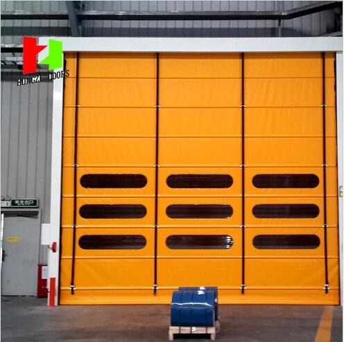 Flexible Stacking Door High Speed Steel Door Rapid Roller Shutter (Hz-020)