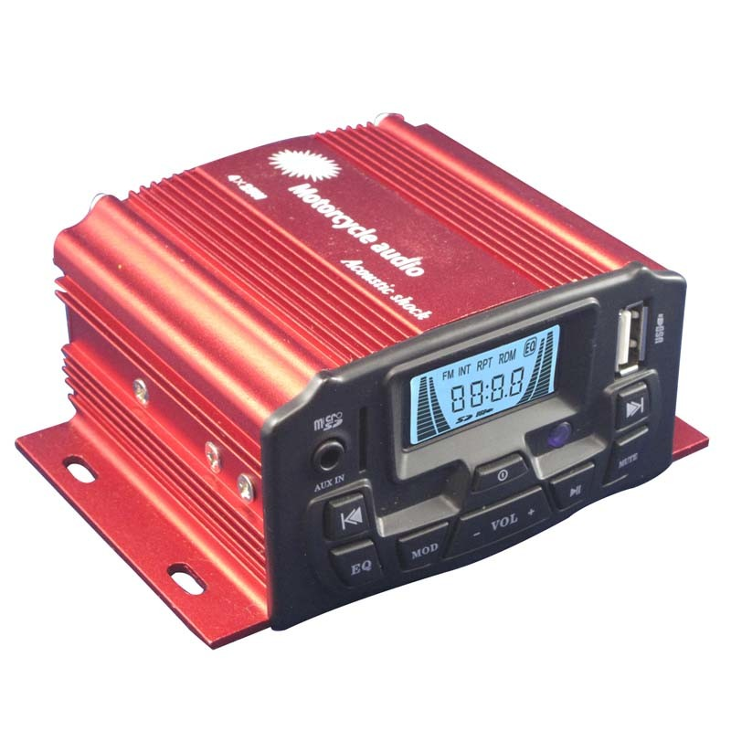 Powerful Car Motorcycle Amplifier Motorcycle Audio Radio Player